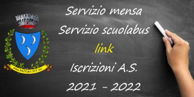 SERVIZI SCOLASTICI 2021 - 2022 - LINK ISCRIZIONI